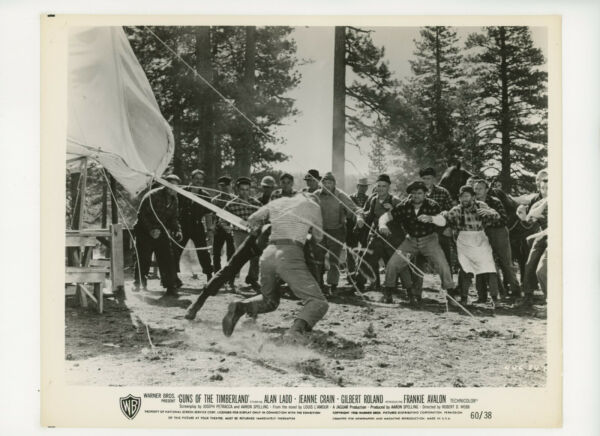 GUNS OF THE TIMBERLAND Original Movie Still 8x10 Alan Ladd Western 1960 20652 $5.00