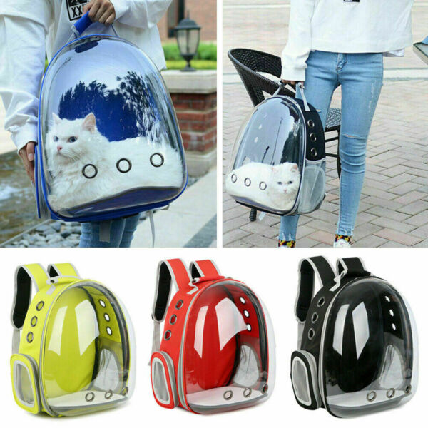 Pet Portable Carrier Backpack Space Capsule Travel Dog Cat Bag Transparent US $25.99