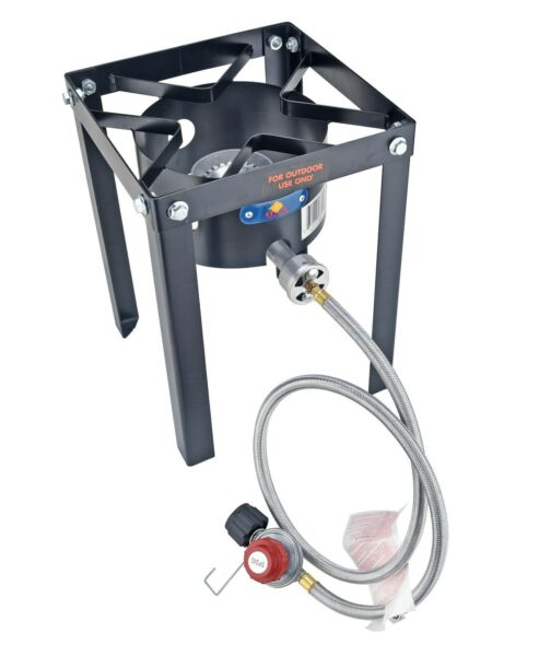 37000 BTU Outdoor Cooking Camping Single Propane Burner Stove Gas Cooker Grill