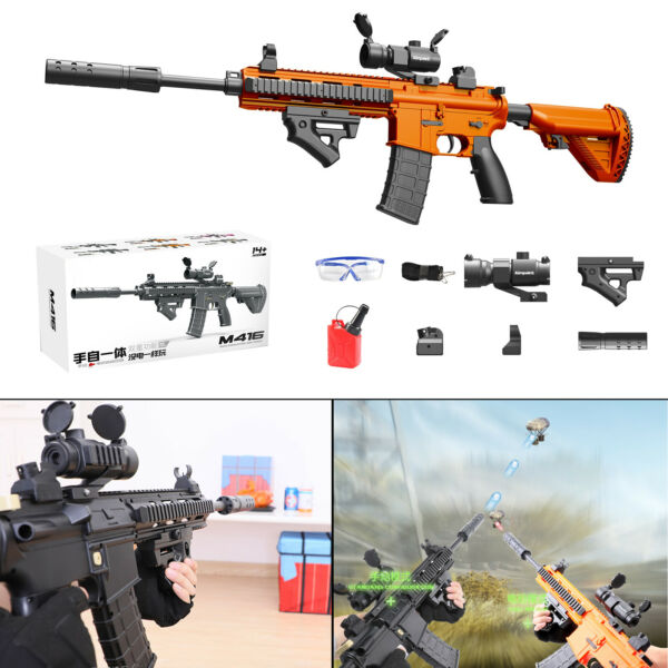 Toy Gun Weapon M416 Automatic & Manual Kids Water Bullets Guns CS + Ammo Clip OG