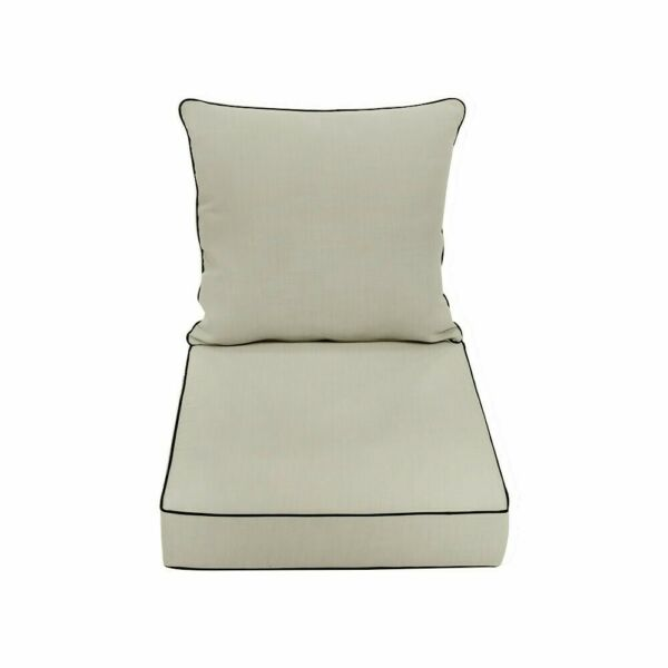 S1 26x30x5 Love Sofa Deep Seat Cushion Back Rest Pillow Outdoor Water Repellent $89.99