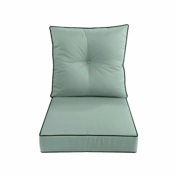 S2 24quot;x26quot;x5quot; Deep Seat Love Sofa Cushion Back Rest Pillow Outdoor AD002 $74.99