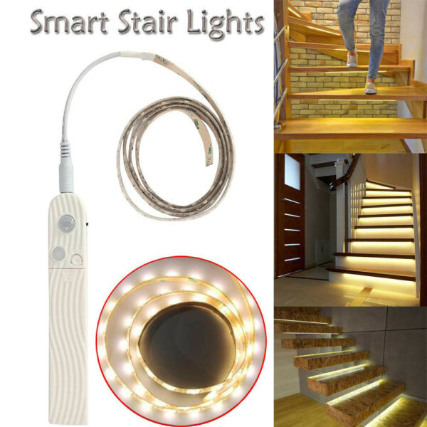 LED PIR Motion Sensor Strip Light Wireless Battery Operated Indoor Cabinet Lamp