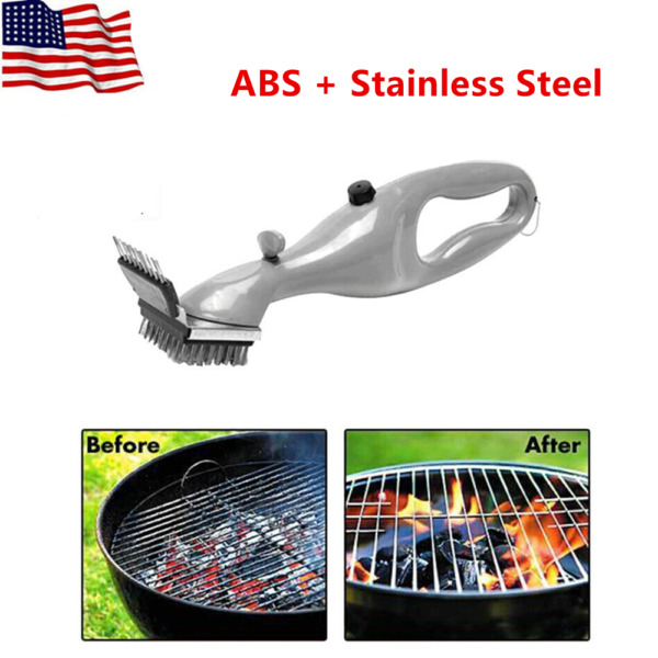 BBQ Cleaning Brush With Steam Power Outdoor Stainless Steel Grill Cleaner