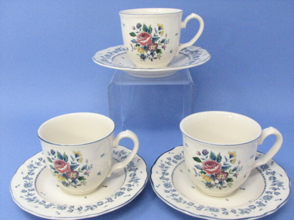 Tablemates Flower Garden by Nikko Cups amp; Saucers 3 available EUC