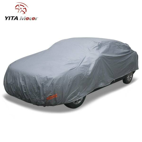 Full Car Cover Waterproof Snow Rain UV Rain Resistant Breathable Protect Wlock