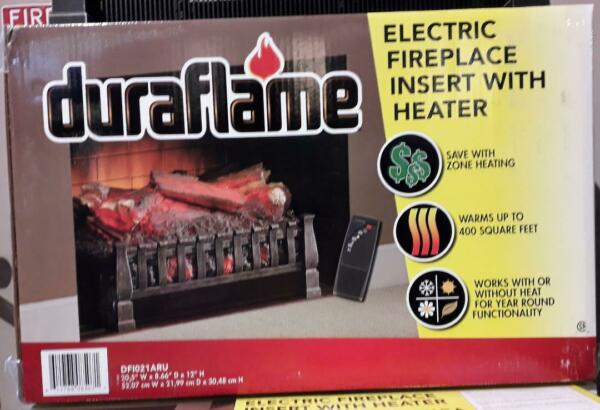 Duraflame Electric Fireplace Insert with Heater DF 1021ARU with remote (BR)