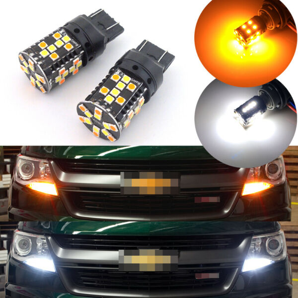 No Resistor Switchback Front Turn Light LED Bulbs for 2015 up Chevrolet Colorado