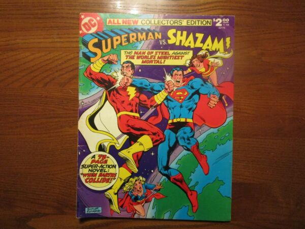 Superman vs SHAZAM Treasury C 58 1st Superman vs Black Adam 1978