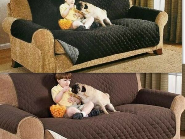 Quilted Reversible Furniture Protector Slipcover Sofa Love Seat Chair Cover $17.84
