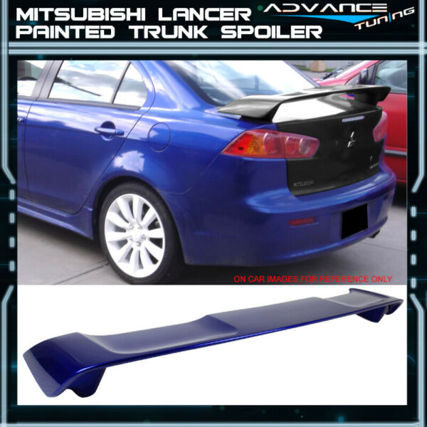 08-17 Mitsubishi Lancer Trunk Spoiler OEM Painted Color #T70 Electric Blue Pearl