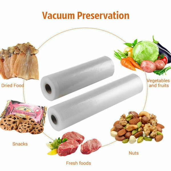 TOP 5M Rolls Food Vac Bags Magic Seal for Vacuum Sealer Storage Bags Food Saver $7.59