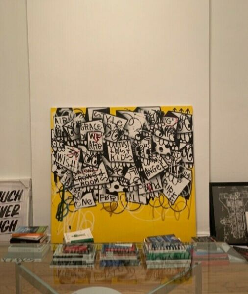Original painting by NYC and Miami-based street artist Flore for a discount