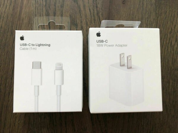 Original 18W Fast Charger USB-C Power Adapter Cable FOR iPhone 11 Pro Max XR lot