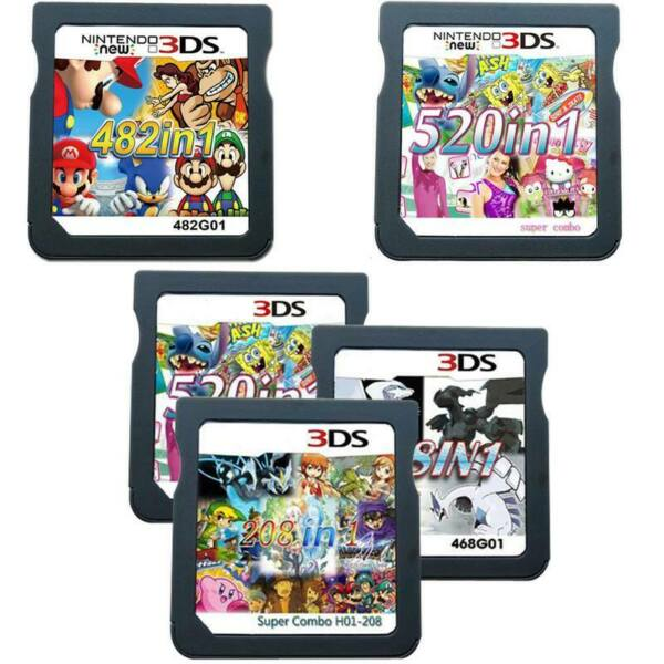 520/500/482/468/208 in 1 Video Games Cards Cartridges For NDS NDSL 2DS 3DS NDSI