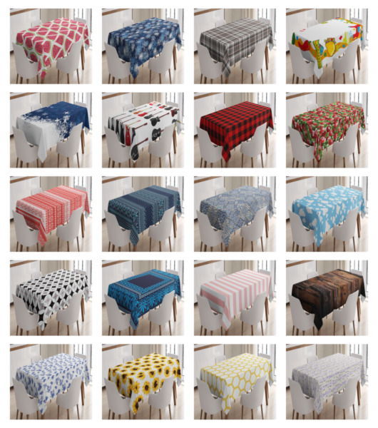 Ambesonne 3 Size Kitchen Rectangle Tablecloth Decor Dining Room Table Cover