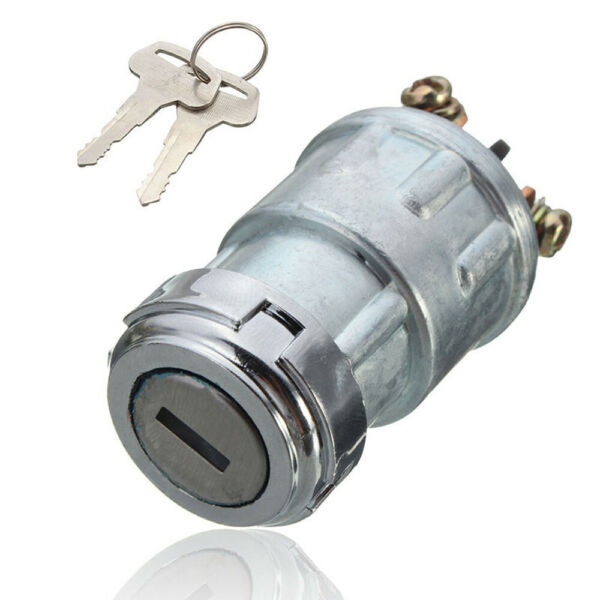 Durable Universal Replacement Ignition Switch Lock Cylinder w 2 Keys