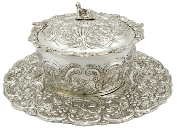 Sterling Silver Covered Serving Dish - Antique George III