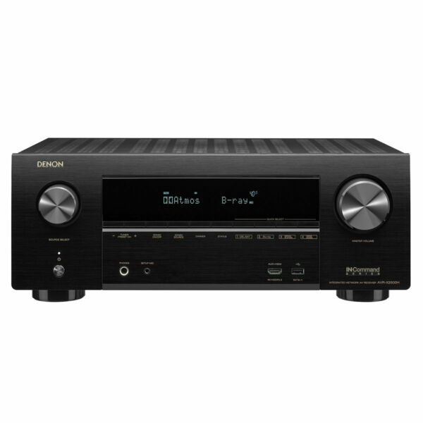 Denon AVR-X2500H 7.2-Channel 4K Receiver with Wi-Fi Atmos Airplay2 and Heos