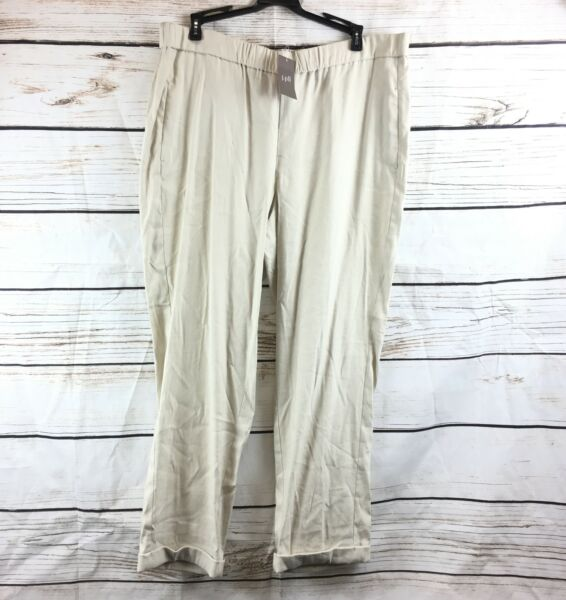 New J Jill Sea Salt Easy Linen Stretch Pants All Sizes OF $13.95