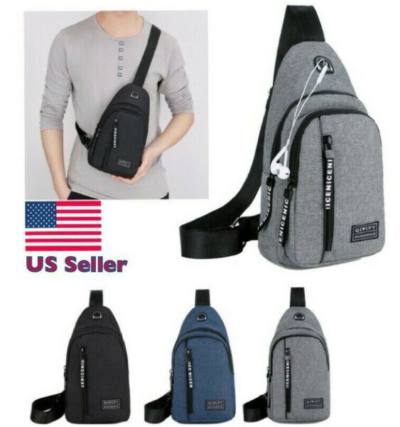 Mens Sling Bag Cross Body Handbag Chest Bag Shoulder Pack Sports Travel Backpack $9.99