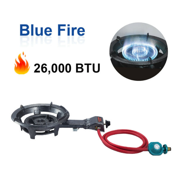 26000 BTU Low Pressure Propane Burner Stove Outdoor Camping Gas Cooking Stove
