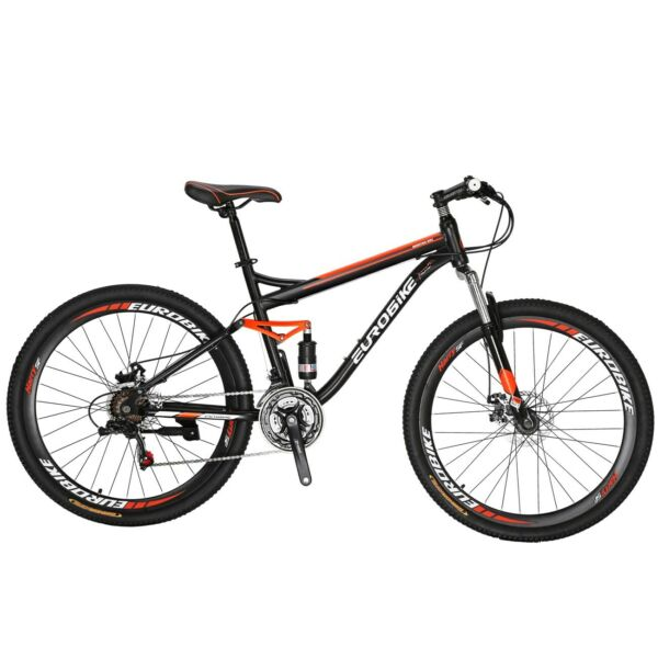 S7 27.5quot; Full Suspension Mountain Bike Shimano 21 Speed Disc Brakes Mens Bicycle $299.00