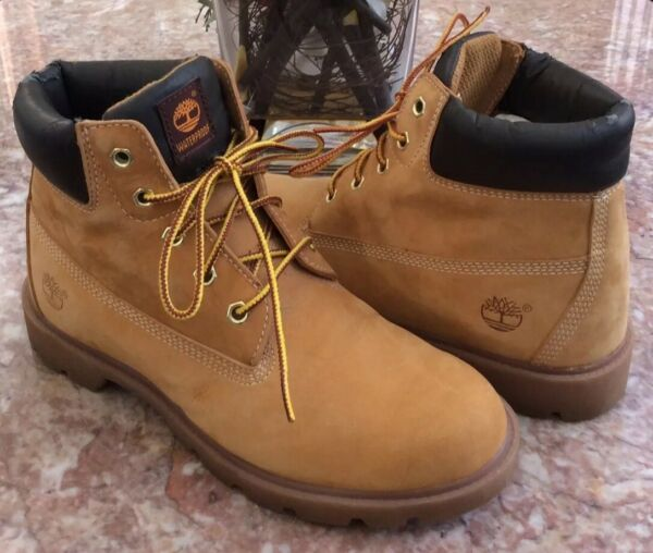 Timberland 6 inch Men's premium Wheat Leather Boots Size 5.5M #12910 0744 EUC $35.99