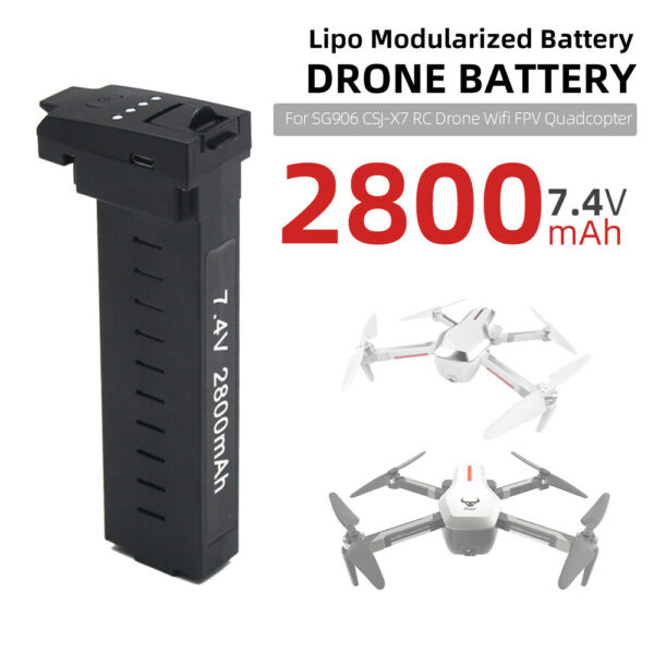 Lipo Battery 7.4V 2800mAh Modularized Drone Battery For SG906 CSJ-X7 RC Toy A5Q5