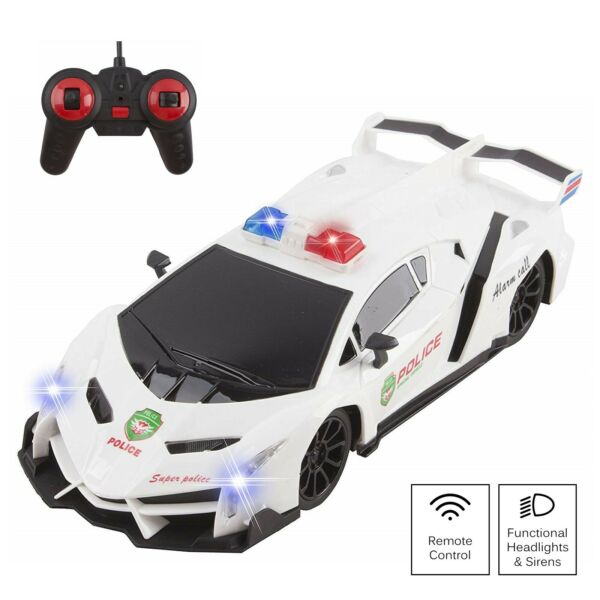 Police RC Cop Car Exotic Large 1:16 Scale Kids Remote Control Toy Sports Cars WH