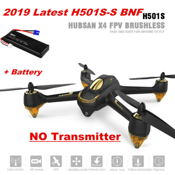 Hubsan H501S S FPV Brushless RC Quadcopter Drone 1080P Follow Me RTH BNF Edition