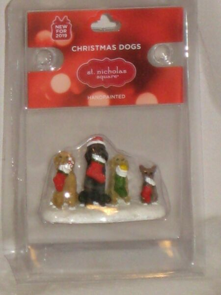 NEW St. Nicholas Square quot;CHRISTMAS DOGSquot; An Accessory From Village Collection $14.95