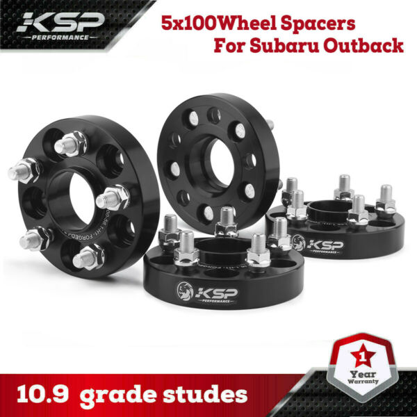 4 1quot; Hubcentric Wheel Spacers 5x100 Adapters for Subaru Impreza WRX 2.5 FR S