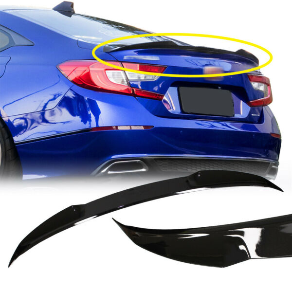 FOR 2018-2019 HONDA ACCORD JDM V TYPE PAINTED BLACK PEARL TRUNK LID SPOILER WING