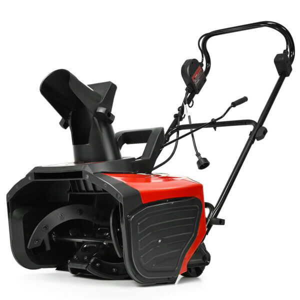 Snow Blower Electric Snow Thrower Push Cleaning Machine 18 Inches Corded 180 deg