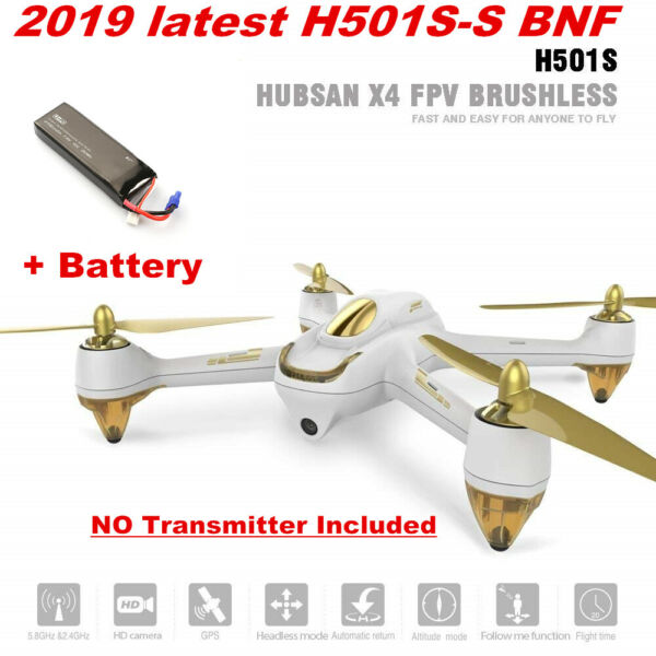 Hubsan X4 H501S S FPV Drone Brushless 1080P GPS AutoReturn Quadcopter BNF,H501SS