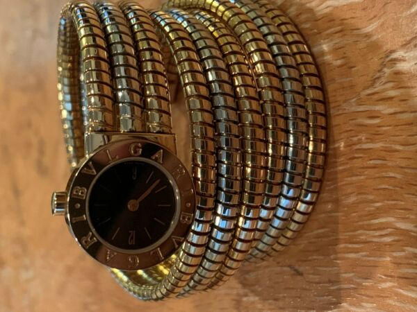 Bulgari Tubogas Serpenti  Wrist Watch Solid 18K Case Bi-Gold Bracelet
