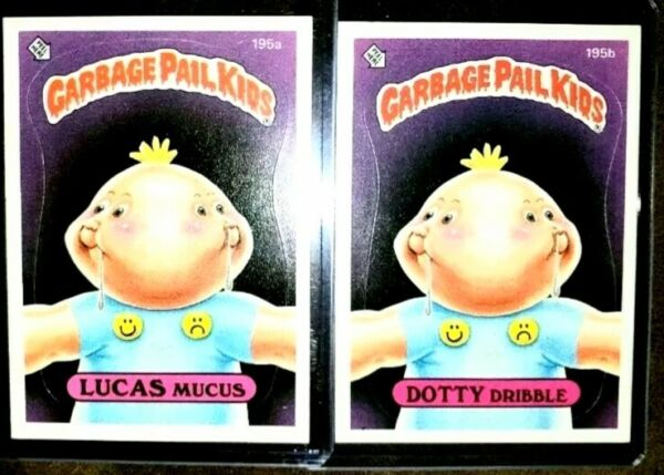 1986 Garbage Pail Kid Cards #195ab~ LUCAS MucasDOTTY Dribble ~MINTAUTH CARDS