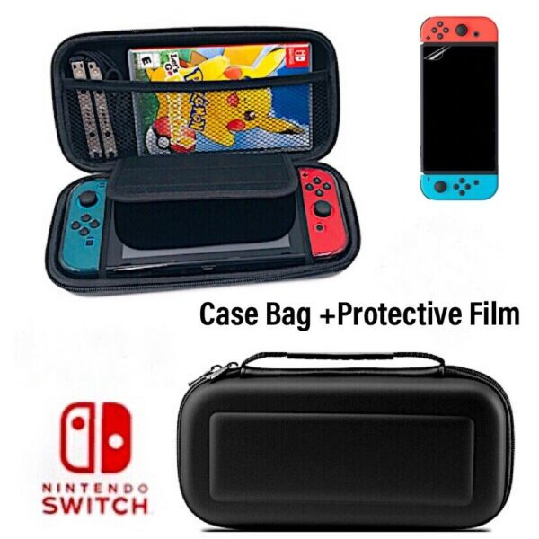 For Nintendo Switch Case Bag High Protective Travel Carry Pouch+ Charging Cable