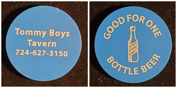Tommy Boys Tavern Waynesburg PA good for one bottle beer trade token gft218 $4.50