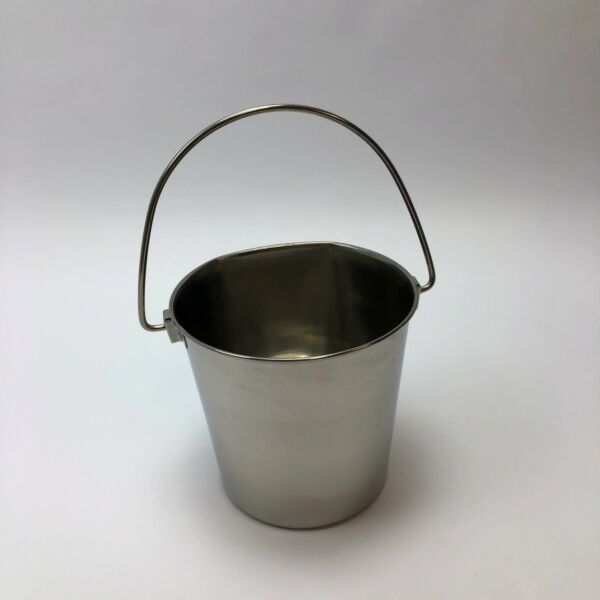 ProSelect Stainless Steel Flat Sided Pail 64 oz2 Quarts Capacity ZT64402