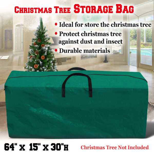 Large Heavy Duty Artificial Christmas Tree Storage Bag PE Container Box 5#x27; to 9#x27;