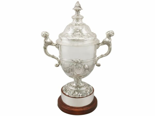 Antique Sterling Silver Presentation Cup and Cover George V