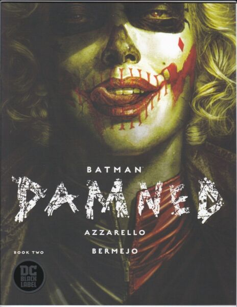 BATMAN DAMNED #2 HARLEY COVER NM HQ SCANS AZZARELLO DC COMICS BLACK LABEL 2018 $7.20