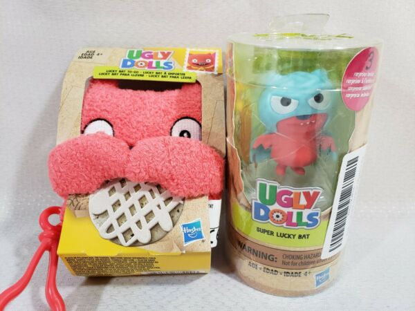 Hasbro Ugly Dolls Disguise Surprise Super Lucky Bat and Lucky Bat To-Go Clip On