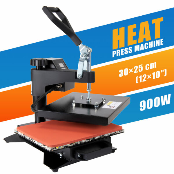 12X10quot; Digital Heat Press Machine Sublimation Transfer for T Shirt Printer $76.99