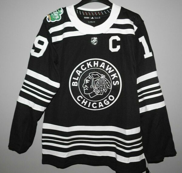 Authentic Adidas NHL Chicago Blackhawks Winter Classic #19 Hockey Jersey New Men