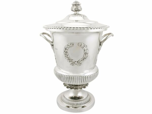 Edwardian Sterling Silver Presentation Cup and Cover 1900s