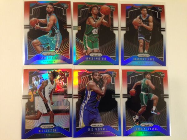 2019-20 NBA Panini Prizm Red White Blue Rookie Parallel RC - You Pick the cards