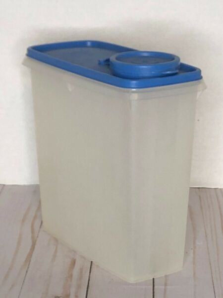 Tupperware #469 Modular Mate Cereal Keeper Storer Container Blue Flip TopLid 470